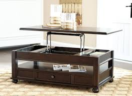 Captivating Ashley Furniture Barilanni Dark Brown Lift Top Coffee Table With Storage  Drawer Photo Gallery