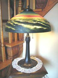 best of reverse painted lamp and antique signed reverse painted lamp rare 47 reverse painted antique