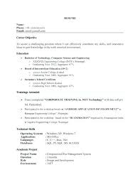 Example Of Resume Headline Computer Science Examples For With