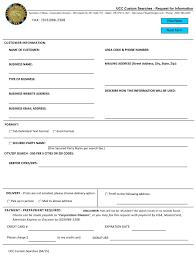 Printable Customer Information Form Form 417 Download Printable Pdf Request For Information
