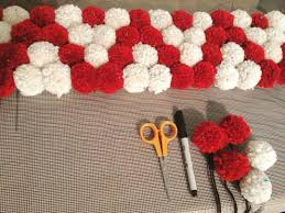 Lovely Sunday evening making this beautiful pompom rug. Check back soon to  see the finished