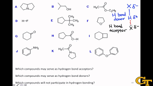 what atoms can form hydrogen bonds identifying hydrogen bond donors acceptors youtube