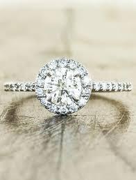 charlotte stunning round halo engagement ring ken dana design