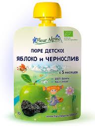 Купить <b>Пюре Fleur</b> Alpine / <b>Флёр</b> Альпин Яблоко и чернослив (с 5 ...