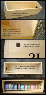 wine box ribbon disenser