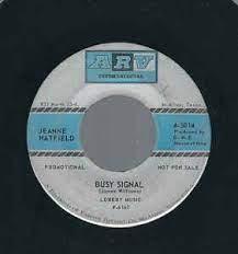 Jeanne Hatfield – Busy Signal (1969, Vinyl) - Discogs