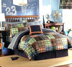 kids bedding collections boys twin sports bedroom sheets plaid quilt bedrooms sets decoration room