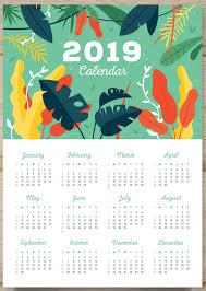 3 Page Calendar Design One Page Calendar 2019 2019calendars Calendar Design