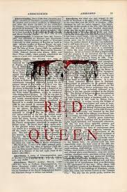 red queen by victoria aveyard print wall art on a by cartabancards red queen victoria aveyardbook