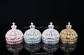 Decorative Ring Boxes Vintage Princess Crown Shape Jewelry Box Decorative Trinket Box 36