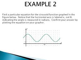 12 find a particular equation for the sinusoid function