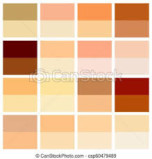 Skin Tone Color Chart Human Skin Texture Color Infographic Palette Facial Care Design