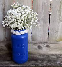 Blue Mason Jars Wedding Decor Blue Wedding Mason Jar Wedding Centerpiece Royal Blue and 45