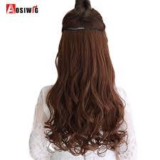 Aosiwig Verschillende Maten Lange Golvende 5 Clip In Hairextensions