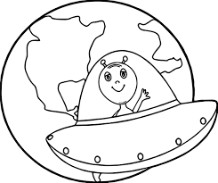 Small Picture Earth Globe Alien Coloring Page Wecoloringpage