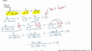 solving rational equations by combining all fractions