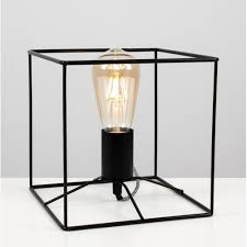 22544 Neilson Black Cube Frame Table Lamp
