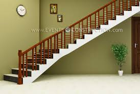 Simple Wood Stairs Design Evens Construction Pvt Ltd Simple Wooden Staircase Design