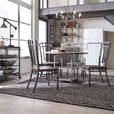 gray dining room furniture. Barnside Metro 5-Piece Gray Dining Set Room Furniture R
