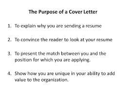What Is The Purpose Of A Cover Letter 17 Letters University
