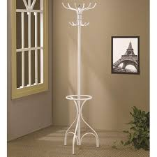 White Metal Coat Rack White Metal Coat Rack StealASofa Furniture Outlet Los Angeles CA 2