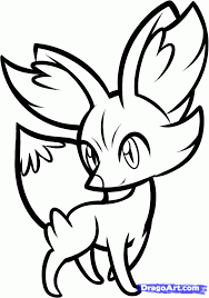 Small Picture New Pokemon Coloring Pages x and y how to draw fennekin pokemon
