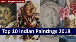 most popular top ten beautiful paintings by a famous indian painter