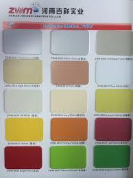 Acp Colour Chart Aluminum Composite Panel Color Chart Lemon Yellow Orange