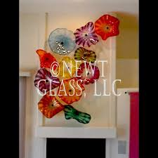 wall art plates fireplace design of blown glass platters