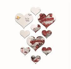 sunshine modern love heart pattern wall stickers mirror wall stickers wall art decorative silver