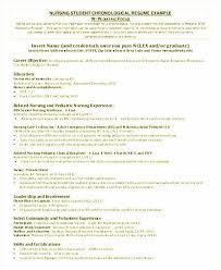 Registered Nurse Resume Sample Elegant Nursing Resume Examples Free