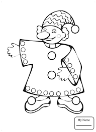 coloring pages activities Clown circus   colorpages7.com