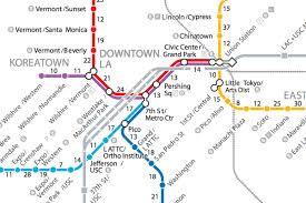 if la's trains disappeared a walking map of metro  curbed la