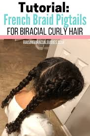 Braided Hairstyles For Mixed Hair Tutorial For French Braid Pigtails