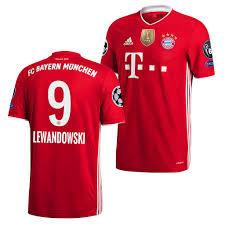 L'attaquant polonais aurait prolongé son contrat de deux saisons avec le bayern munich, révèle bild, ce mardi. Robert Lewandowski Jersey Fc Bayern Munich 2020 Uefa Champions Of Europe