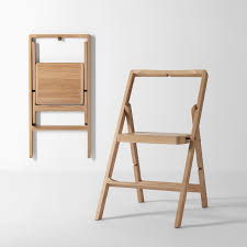 step mini lacquered step ladder folding chair