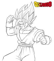 Dragon Ball Z Coloring Pages Vegitol