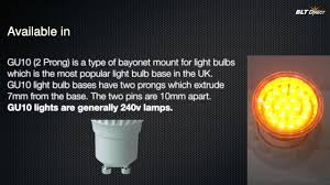 Blt Lighting Led Gu10 Cluster Yellow 1 8 Watt 21 Leds