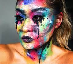 face painting creative and makeup artist melbourne area abstract makeup paint