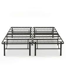 King size Folding Sturdy Metal Platform Bed Frame with Storage Space