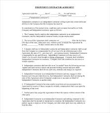 Independent Contractor Agreement Template Word Contractor Agreement