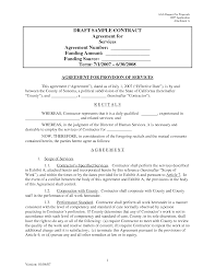 Business Service Agreement Template Managed Service Contract Template With Simple Service Agreement 10