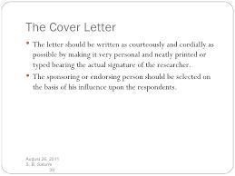 Sample Questionnaire Cover Letters Cover Letter Survey Mwb Online Co