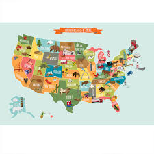 the usa map poster wall sticker large