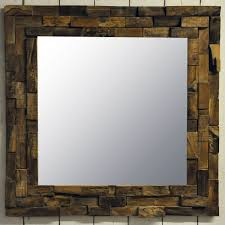 wood wall mirrors. 80x80cm Teak Branch Wooden Wall Mirror Wood Mirrors