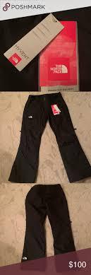 North Face Ski Snow Pants Size Large Black Never Worn