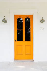 Orange front door Burnt Orange Unusually Beautiful Front Door Colors Youd Never Think To Try Apartment Therapy Pinterest Unusually Beautiful Front Door Colors Youd Never Think To Try In
