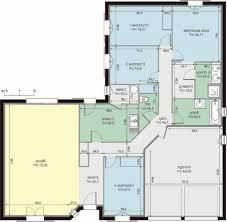 plan maison plain pied 3 chambres avec suite paale et garage