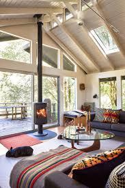 mid-century living room in Oregon