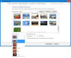 Change Desktop Background in Windows 10 ...